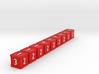 Dice / Crates - Full colour - Red (9pcs) 3d printed