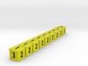 Dice / Crates - Full colour - Yellow (9pcs) 3d printed