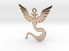 POKEMON Team Mystic (Blue) Pendant SMALL 3d printed 14K Rose Gold Plated