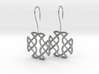 Celtic Square Cross earrings with earwire 3d printed