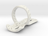 Trigger ring splint US size 7.5 wireframe  3d printed