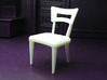 1:24 Dog Bone Chair 3d printed Printed in White, Strong & Flexible