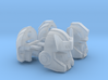 Bodyguard and Medical Officer Heads Set Of 2 3d printed