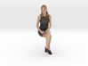 Girl Sitting on Office Desk 3d printed