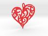 Tribal Heart Pendant 3d printed