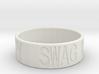 """""""Swag Money"""" Ring, 24mm diameter 3d printed"""