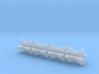 1/18 3 Inch Muffler Clamps 3d printed