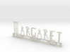 Margaret Nametag 3d printed