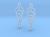 Ring Earrings (rotating) 3d printed