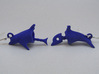 Dolphin Seraphinianus - Earrings 3d printed Both earrings are part of the same dolphin
