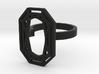 RECTANGLE DIAMOND RING 3d printed
