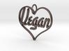 Vegan Heart Pendant 3d printed