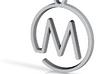 M Monogram Pendant 3d printed