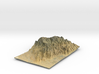 Santa Catalina Mountains Map 3d printed