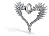 exploded bone heart 3d printed