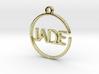 JADE First Name Pendant 3d printed