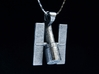 Hubble Space Telescope Pendant 3d printed chain shown for display only