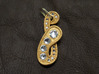Rhine Pendant 1 3d printed Painted with rhinestone crystals added
