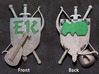 The Emerald Knights Badge1 3d printed Unpolished from Shapeways