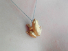 Frog low poly pendant 3d printed
