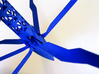 RocketCopter 3d printed The nosecone and rotor hinges in Royal Blue Strong & Flexible Polished