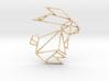 Origami Rabbit 3d printed