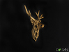 Stag Deer Facing Forward Pendant  3d printed