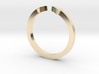 Double Triangle Mid Finger Ring 3d printed
