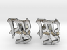 "Hebrew Name Cufflinks - ""Nosson Tzvi"" 3d printed"