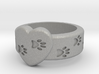 Pawprints On My Heart Ring 3d printed