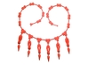 FutureSpike Necklace 3d printed Red Strong & Flexible