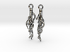 Plant Root Earrings - Science Jewelry 3d printed