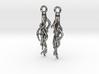 Plant Root Earrings 3d printed