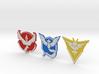 Pokemon Go - All Team Badges 1 3d printed