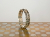 Cut Facets Ring Sz. 5.5 3d printed polished silver