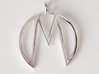 M Pendant 3d printed Printed in Polished Silver