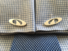 IRONSHARK® CUFFS (Curved Post) 3d printed Close Up of French Cuff Shirt with IRONSHARK® Cuffs