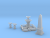 SET Quatrefoil fountain with monument (TT 1:120) 3d printed