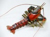 Articulated Crayfish 3d printed Shown painted with acrylics.