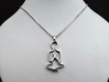 Namaste Pendant 3d printed add your own chain