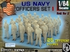 1-64 USN Officers Set1 3d printed