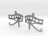Eye Of Horus EarRings - Pair - Precious Metal 3d printed