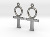 Ankh EarRings - Pair - Precious Metal 3d printed