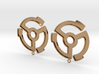 45rpm record adapter earrings 3d printed