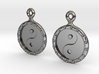 YinYang EarRings 1 - Pair - Precious Metal 3d printed