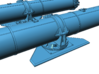 1/32 Torpedo Tubes (aft pair) for PT Boats 3d printed
