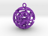 Caged sphere pendant 3d printed