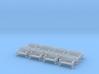 Bench type B - H0 ( 1:87 scale )16 Pcs set  3d printed