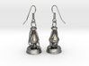 kerosene lamp - earrings 3d printed