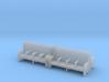 Bench type C - 1:72 scale  4 Pcs set 3d printed